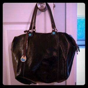 Dooney and Bourke patent leather tote